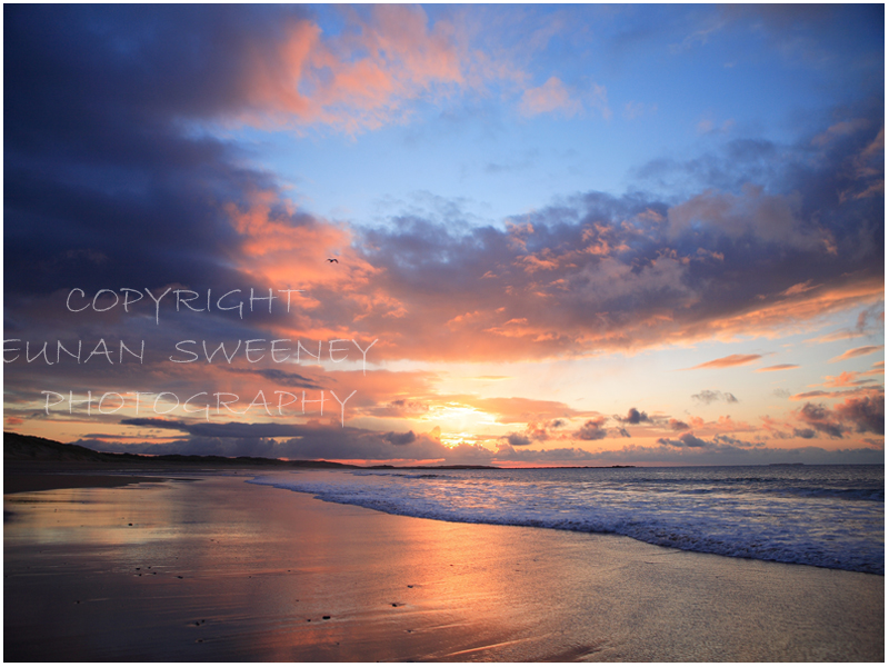 Sunset. Cliffoney beach. Co. Sligo.